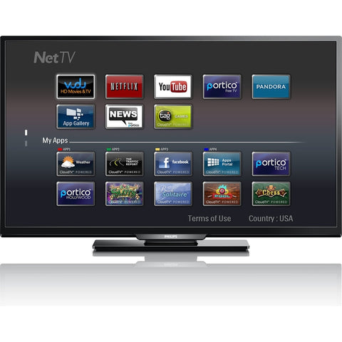 "Philips 40PFL4609 40"" 1080p SMART HDTV with Wireless Net TV"