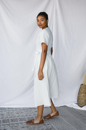 Luna Wrap Dress in Gauze