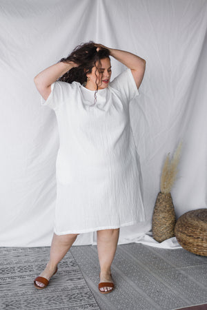 Cocoon Dress in Gauze