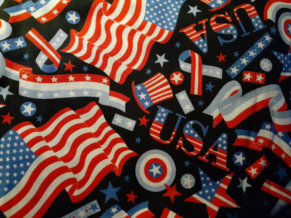 A Collection of  Country Craftworks Fabric Masks -Patriotic