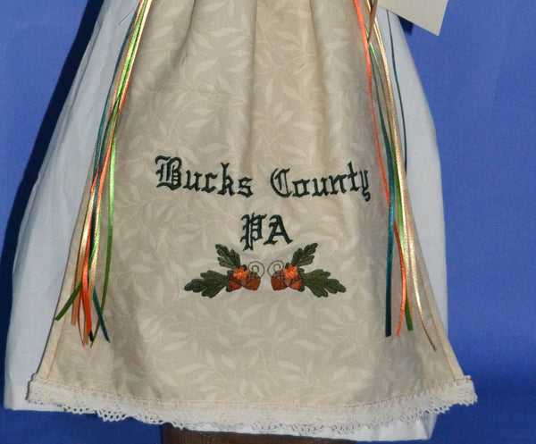 One of A Kind Collection-Bucks County Embroidered Apron Angel - Country Craftworks