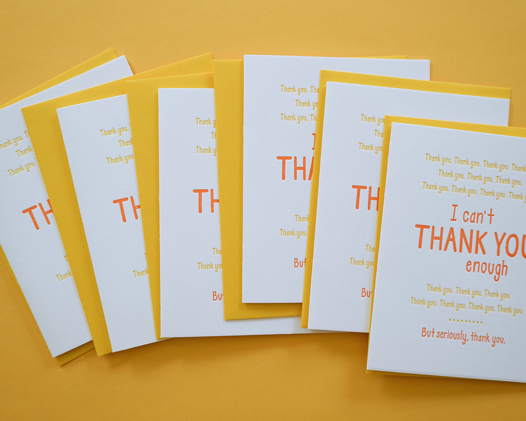 Can't Thank You Enough - Boxed Set of 6