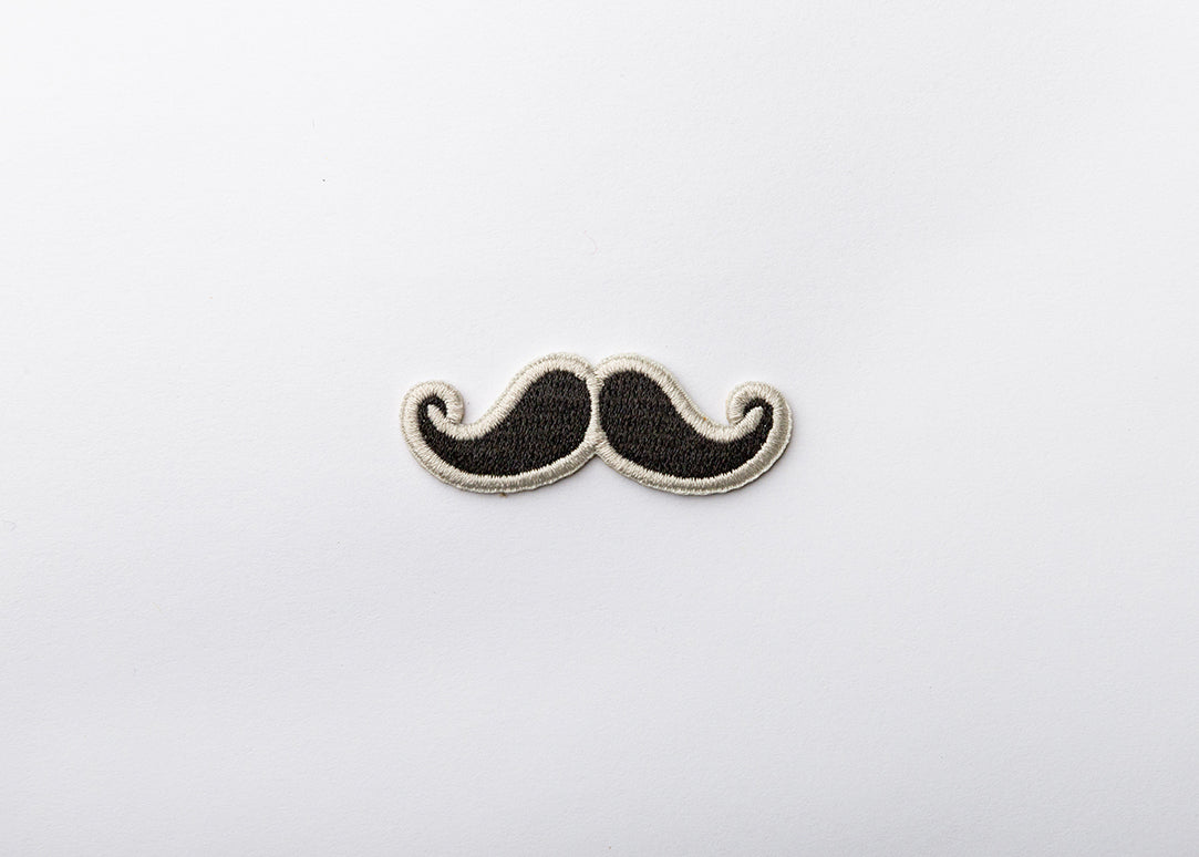 Iron-on Mustache Patch for your Mask and other Gear