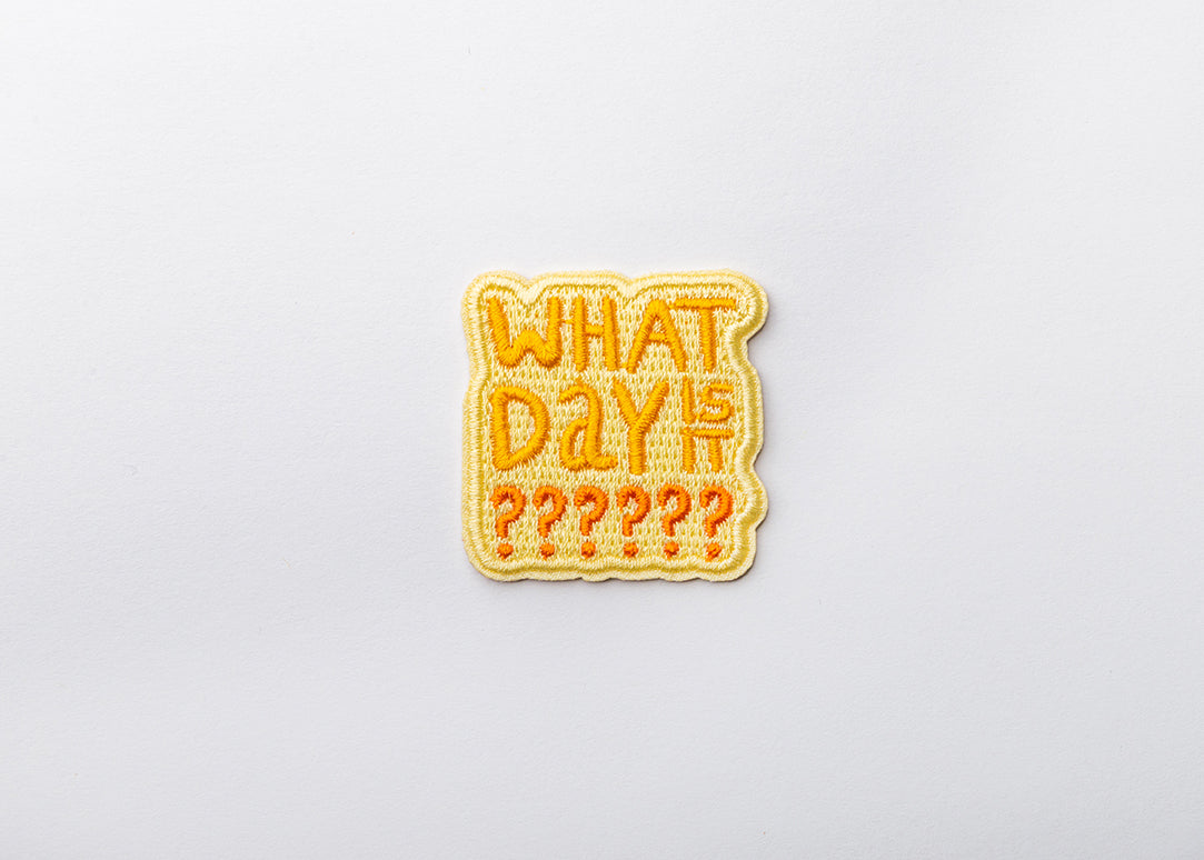 What Day is It Iron-on Patch for your Mask and other Gear