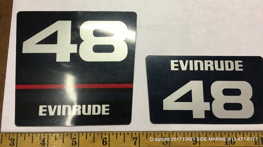 Evinrude 48 Decals for Sale