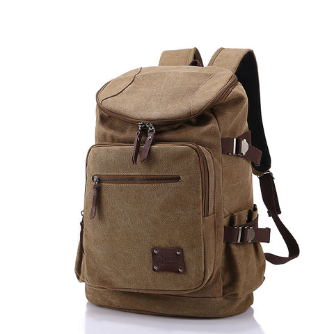 High Quality Men Backpack Zipper Canvas Bag
