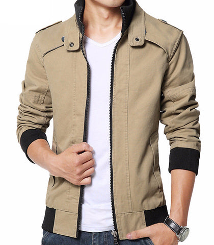 Casual Jacket Solid (S - 5XL)