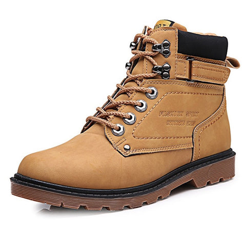 Outdoor Work Boots w/ Rubber Sole