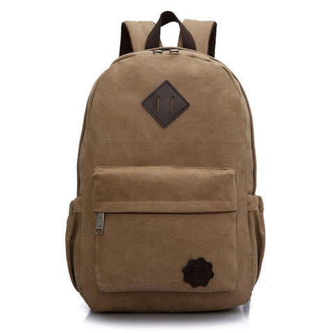Travel Canvas Backpack w/ Laptop slot