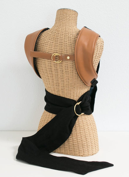 Onyx + Leather :: Sakura Bloom Scout Baby Carrier