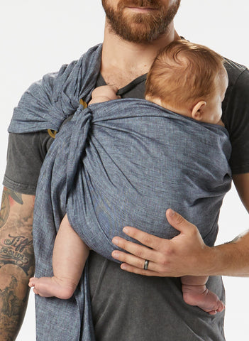 Black Currant Chambray :: Sakura Bloom Baby Sling