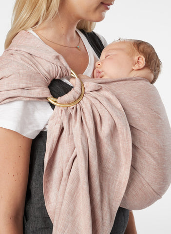 Raisin Chambray :: Sakura Bloom Baby Sling