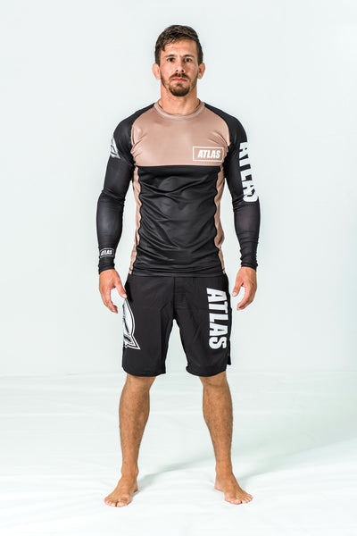 RASH GUARD LS - BROWN