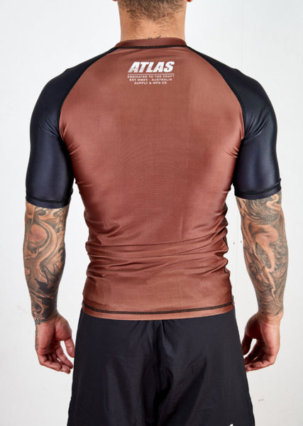 SPLITTER RASH GUARD - BROWN/BLK