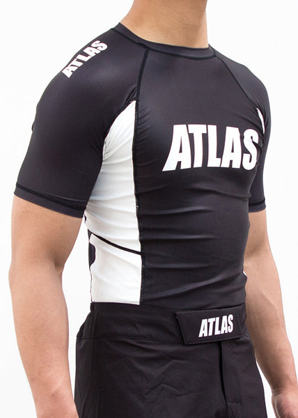 EVO RASH GUARD - BLK/WHITE