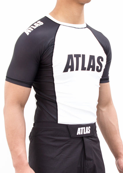 EVO RASH GUARD - WHITE/BLK