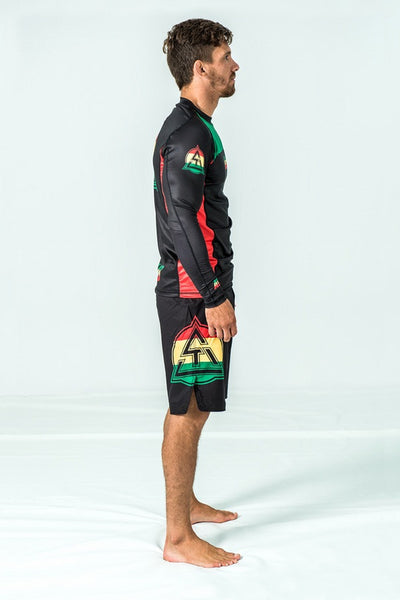 RASTA RASH GUARD LS
