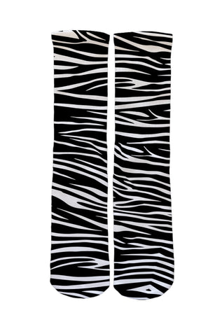 Black & White Tiger Stripe Socks