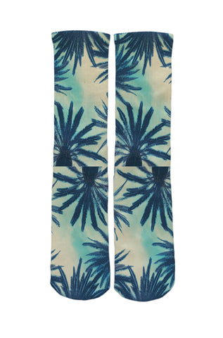 Blue Palms Socks
