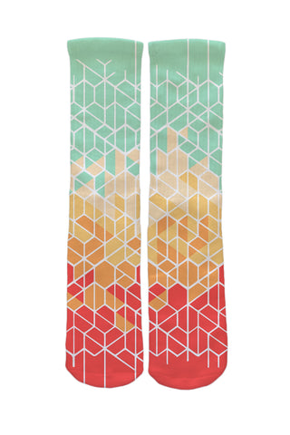 Hexagon Graphic Socks