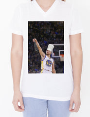 Womens Custom V-Neck - Chef Curry