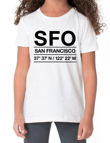 SFO Airport Shirt Kids