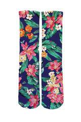 Hawaiian Floral Socks