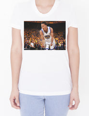 Womens Custom Scoop Neck Tee - Steph White Jersey
