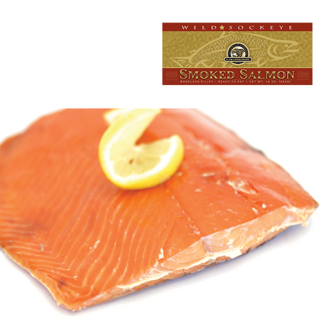 16 oz Smoked Sockeye in Gold Gift Box