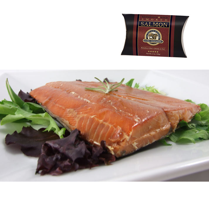 2 oz Wild Smoked Salmon in Crimson Pillow