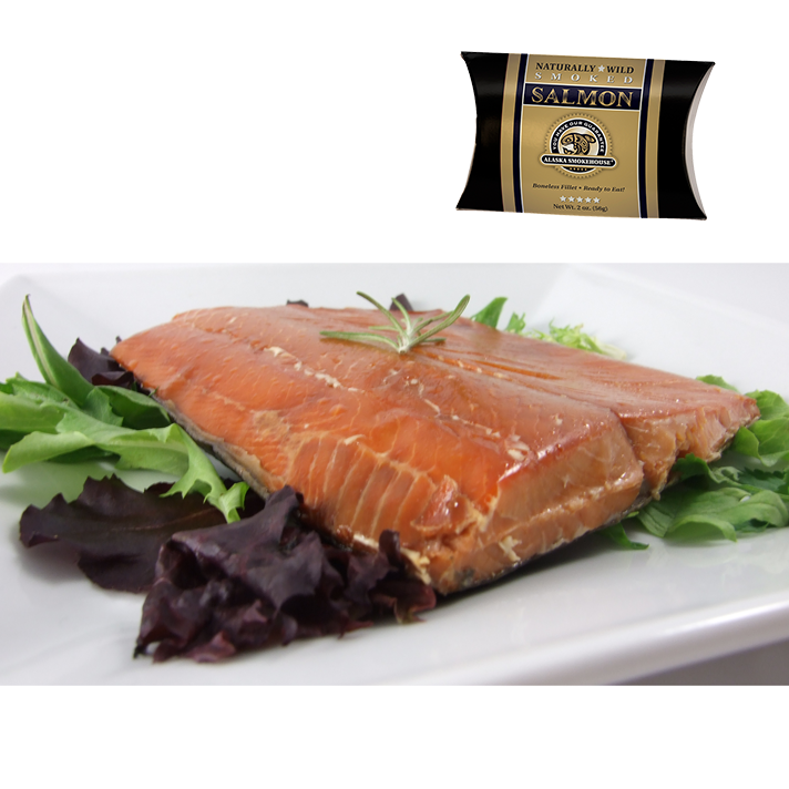2 oz Wild Smoked Salmon in Gold Pillow