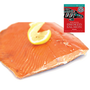 4oz Sockeye Smoked Salmon in Red Gift Box