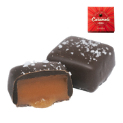5 oz Dark Chocolate Sea Salt Caramels in Red Box