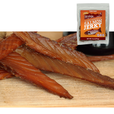 6 oz Teriyaki Salmon Jerky