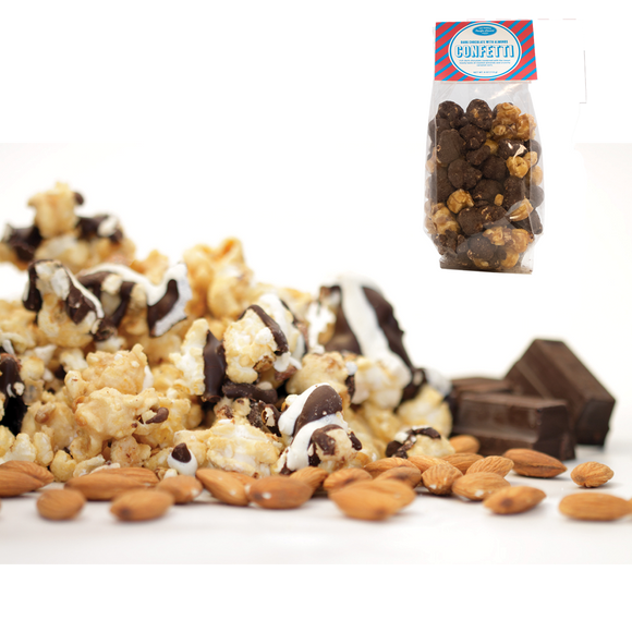 Famous Pacific Dessert Company Dark Chocolate w Almonds Confetti