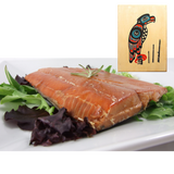 8 oz Natural Smoked Salmon in Eagle Totem Design Wood Box