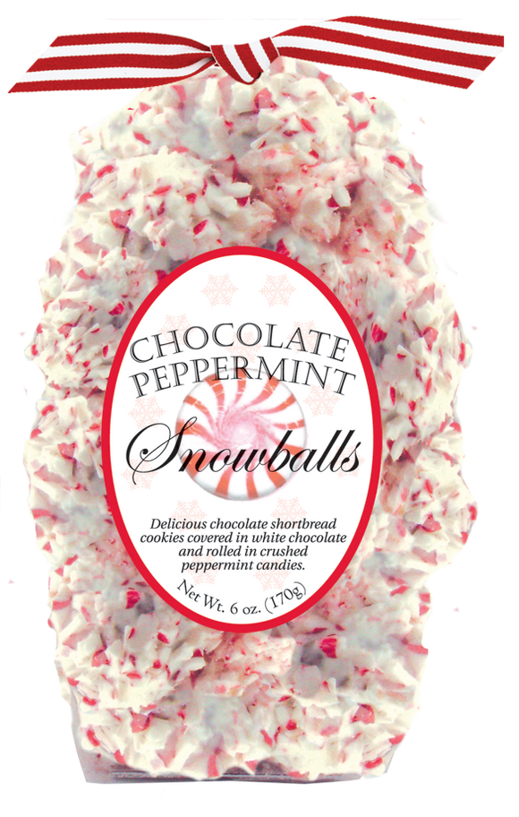 6oz Holiday Chocolate Peppermint Snowballs