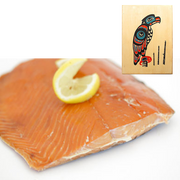 8 oz Sockeye Smoked Salmon in Eagle Totem Design Wood Box