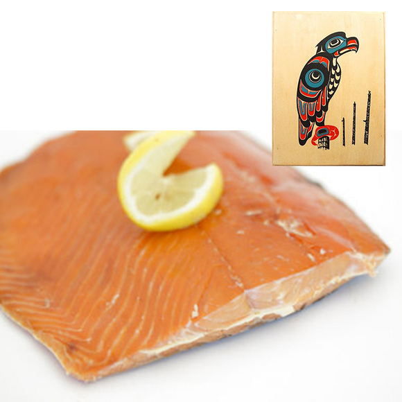 4 oz Sockeye Smoked Salmon in Eagle Totem Design Wood Box