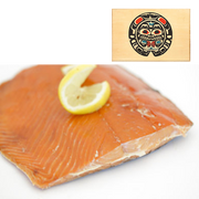 4 oz Sockeye Smoked Salmon in Traditional Bear Design Wood Box