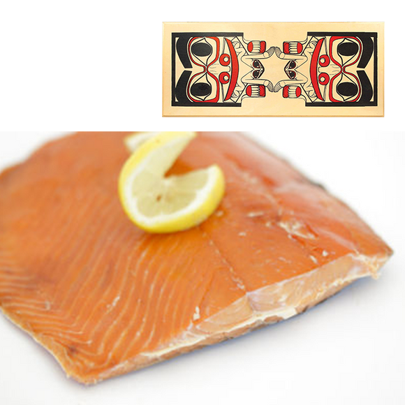 16 oz Sockeye Smoked Salmon in Totem Design Wood Box
