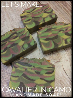 "Making ""Cavalier in Camo"" Handmade Soap!"