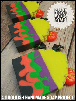 Interrupted Layers for Spooky Soap Making!