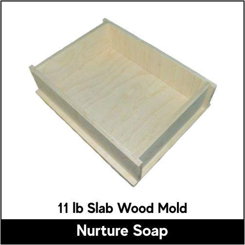 11 lb Slab Wood Mold - Nurture Soap