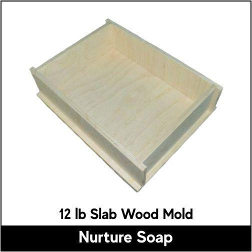 12 lb Slab Wood Mold - Nurture Soap