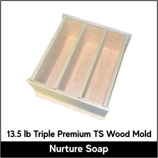 13.5 lb Tall Skinny Wood Mold - Nurture Soap