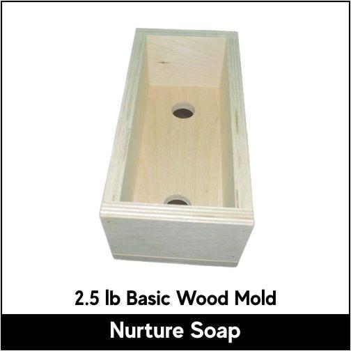 2.5 lb Basic Wood Mold - Nurture Soap