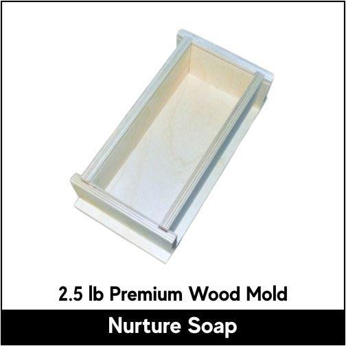 2.5 lb Premium Wood Mold - Nurture Soap