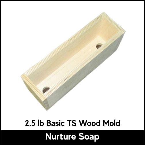 2.5 lb Tall Skinny Basic Wood Mold - Nurture Soap