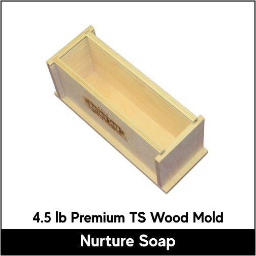 4.5 lb Tall Skinny Premium Wood Mold - Nurture Soap
